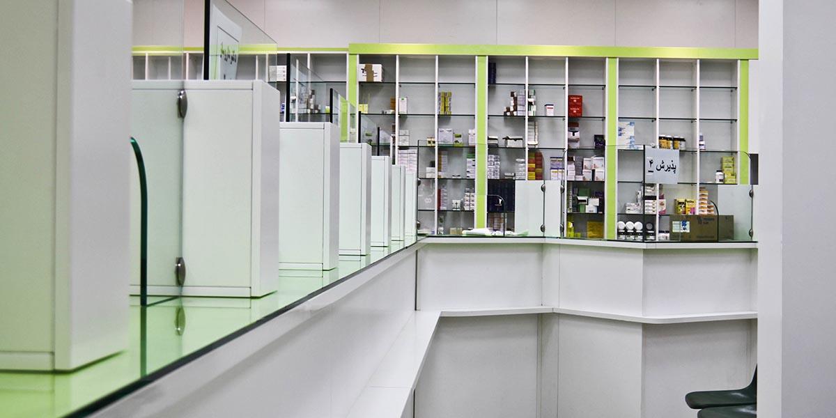 طراحی داخلی داروخانه 13 آبان