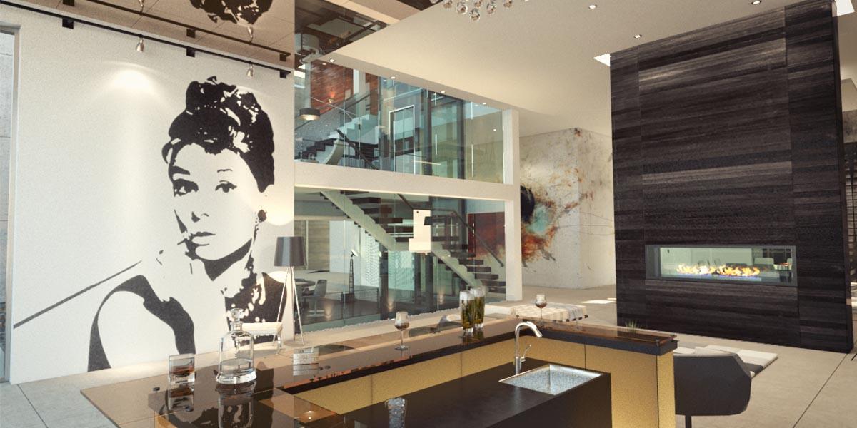 طراحی داخلی ویلا آرین